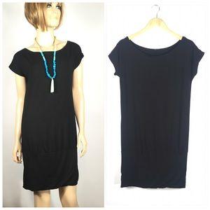Hall Huber Black Cap Sleeve Dress Size Medium